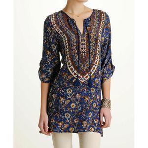 Tolani Sasha Denim Tunic Dress Size M Silk NWT